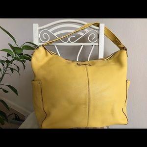 Kate Spade Yellow Tote Leather Tote Handbag Bag